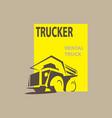 rental truck logo vector image vector image