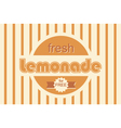 retro lemonade background design vector image vector image