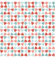 seamless pattern valentines day in retro style vector image vector image