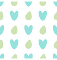 seamless pattern with colored eggs and hearts on a vector image vector image