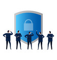 security padlock protection safety shield symbol vector image