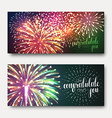 Set 2 brochures festive design with fireworks vector image