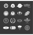 set badges and labels elements for restaurant vector image vector image