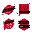 set black friday sale banners vector image vector image