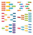 set of six colorful business structure concept vector image vector image
