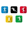 Set of sports games Athletes involved in sports vector image vector image