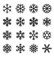 Simple snowflake icons vector image vector image