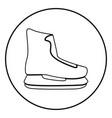 skate icon black color simple image vector image