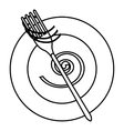 Spaghetti icon outline style vector image vector image