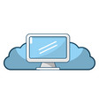 technology web cloud cartoon vector image