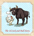 The ol cock and bull story vector image vector image