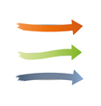 three different arrows vector image vector image