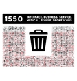 Trash Can Icon and More Interface Business Tools vector image vector image
