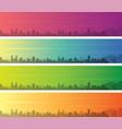 tucson multiple color gradient skyline banner vector image vector image