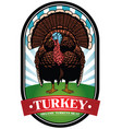 turkey badge vector image vector image