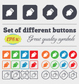 USB icon sign Big set of colorful diverse vector image vector image
