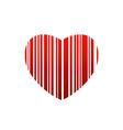 valentine bar code vector image