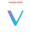 vechain ven logo vector image