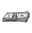 vintage money stack concept vector image