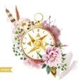 Watercolor compass vector image