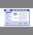 website flat design ui window sample web vector image