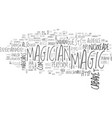 what kind of magician can i hire text word cloud vector image vector image