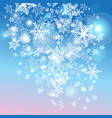 with snowflakes vector image