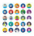 creative flat icons set of professions vector image