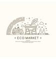 eco market vector image