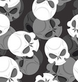 Skull seamless pattern Head Sklet 3d background vector image