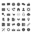 contact solid web icons vector image
