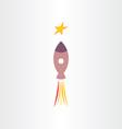 rocket travel in universe star icon vector image