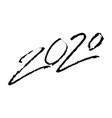 2020 calligraphic signs hand lettering happy new vector image vector image