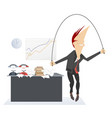 active recreation on the business place vector image vector image