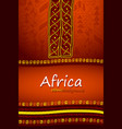 african or aztec hand-drawn ethnic background vector image vector image