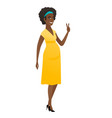 african pregnant woman showing victory gesture vector image vector image