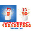 anniversary construction kit for poster banner vector image
