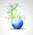 beautiful blue earth vector image