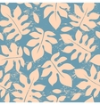 Beautiful floral leaf seamless pattern vector image vector image