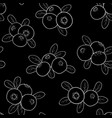 beautiful seamless pattern cartoon black and white vector image vector image