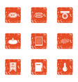 best bet icons set grunge style vector image