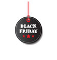 black friday round tag isolated big holiday sale vector image