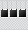 black poster hanging with binder vector image vector image