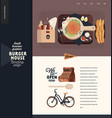 burger house - small business graphics - landing vector image vector image