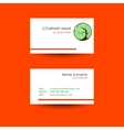 Business card with treecircle ornament background vector image vector image
