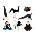 businessman yoga suit meditation and zen relax vector image vector image