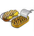 canned smoked sprats vector image