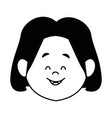 cartoon woman face character people female vector image