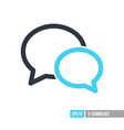 chat speech icon vector image vector image