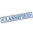 classified stamp classified square grunge sign vector image vector image